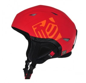 Casque Gin rouge left side