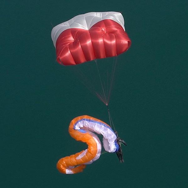 Parachute de secours carré Fluid Light Supair bi