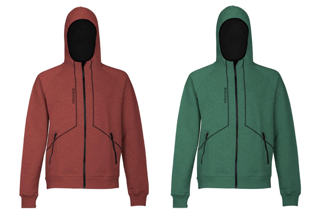 Sweat à capuche Hoodie Advance Red-Green