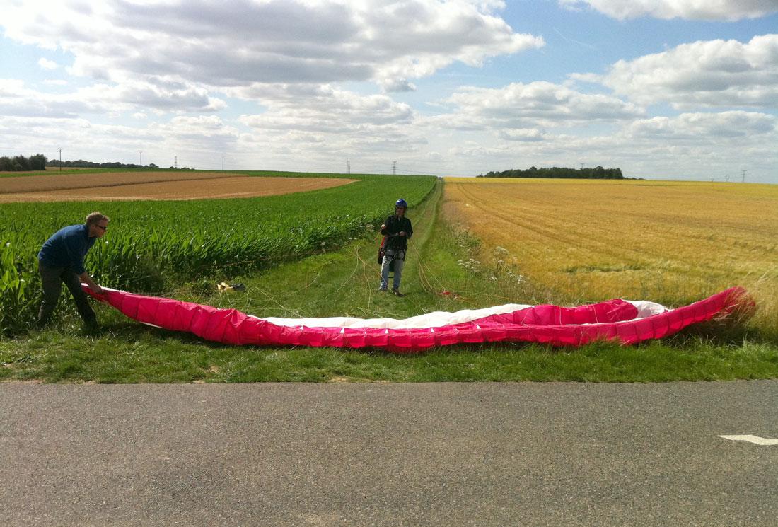 Décollage parapente au treuil Propulsion-Seine-et-Marne