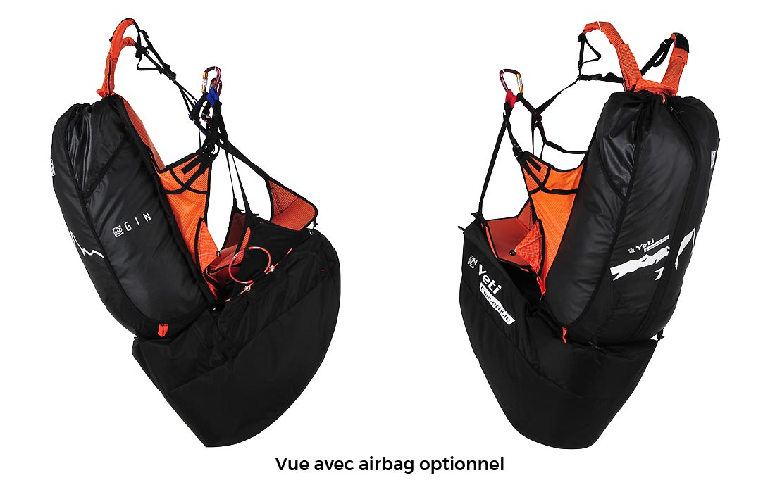 Sellette GIN Yeti Convertible 2 avec airbag